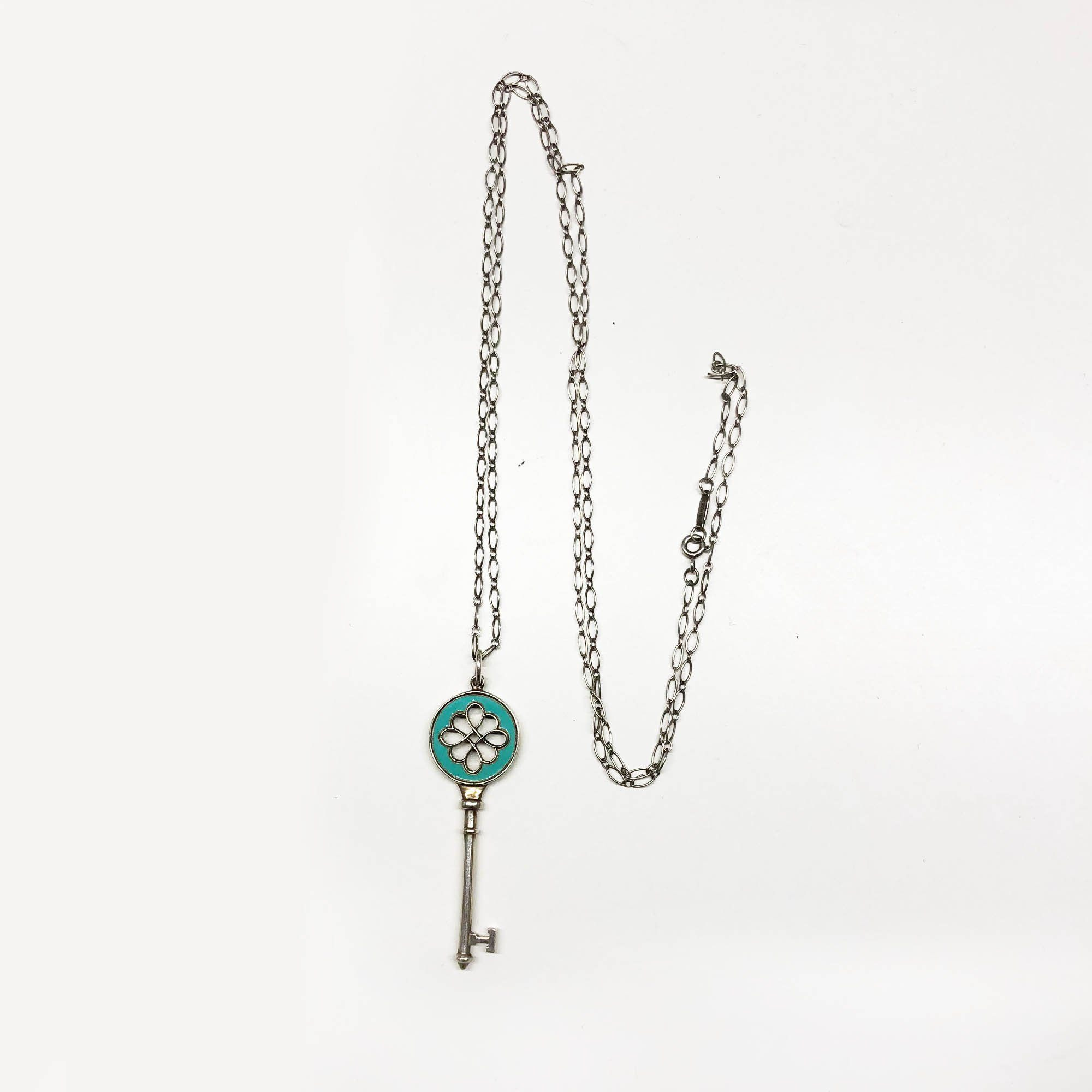Tiffany Key Blue Necklace