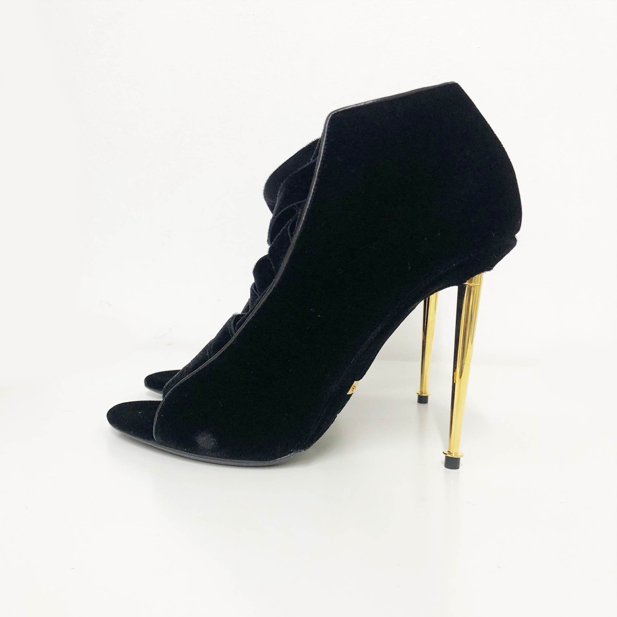 Tom Ford Black Suede Heels