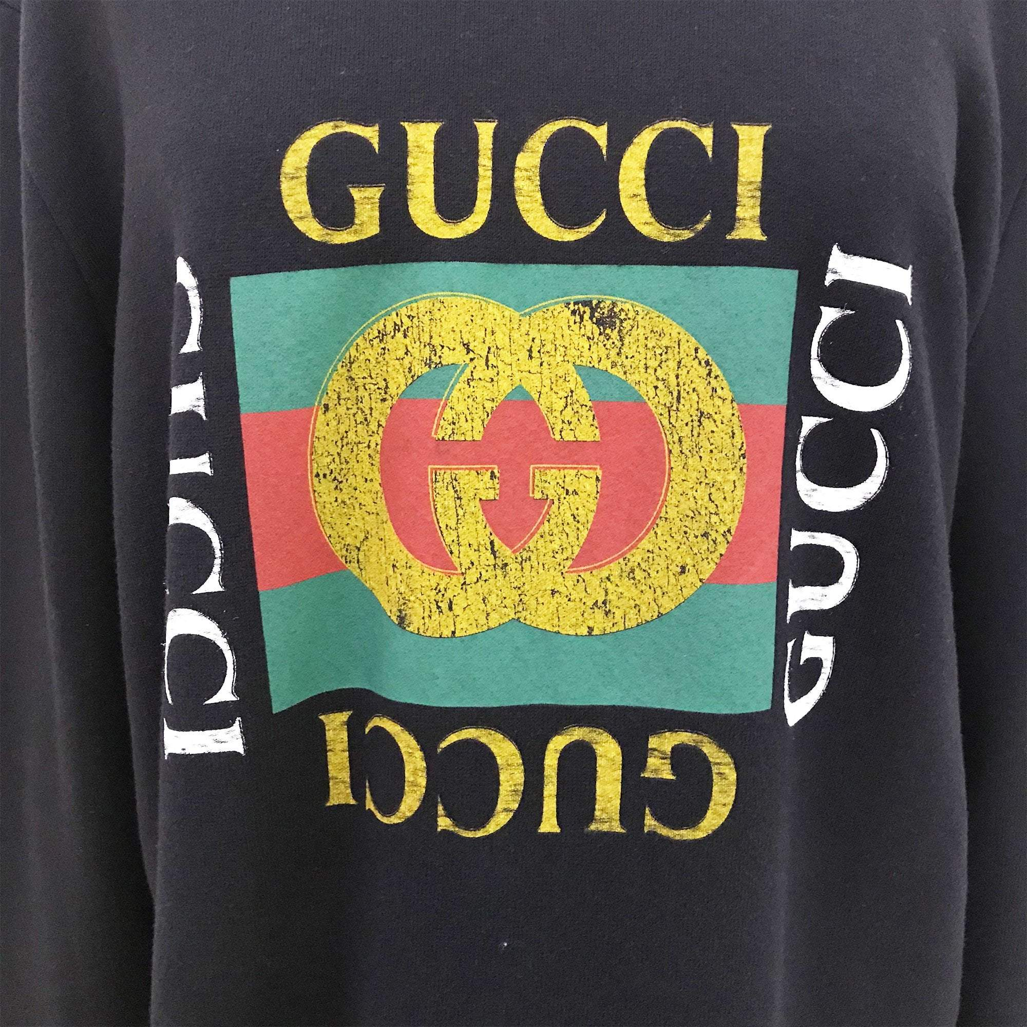 Gucci Cotton Sweatshirt With Gucci Logo