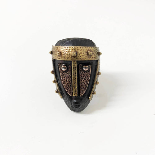 Valentino Tribal Mask Ring Bronze