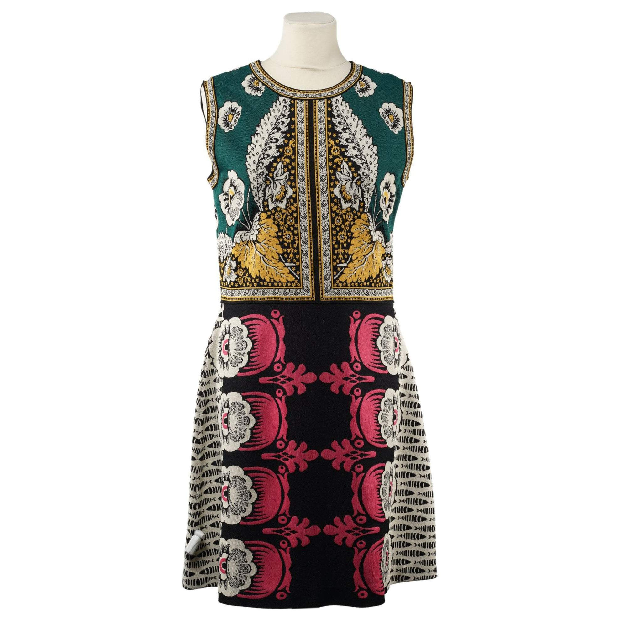 Valentino Print Stretch Knit Dress