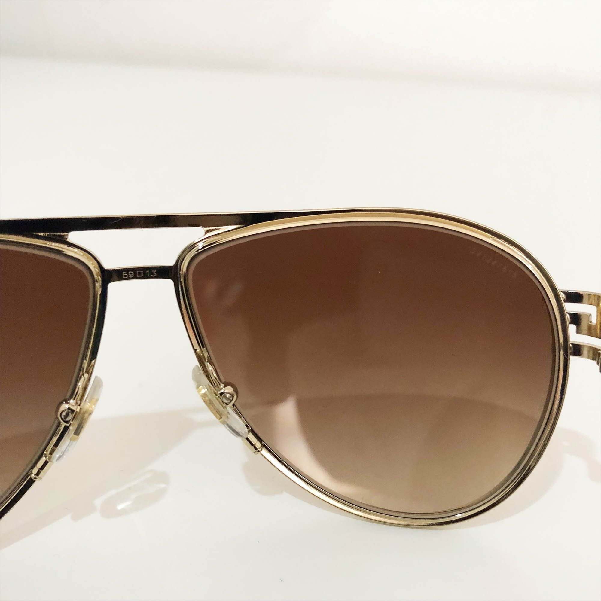 Versace Crystal Embellished Aviator Sunglasses