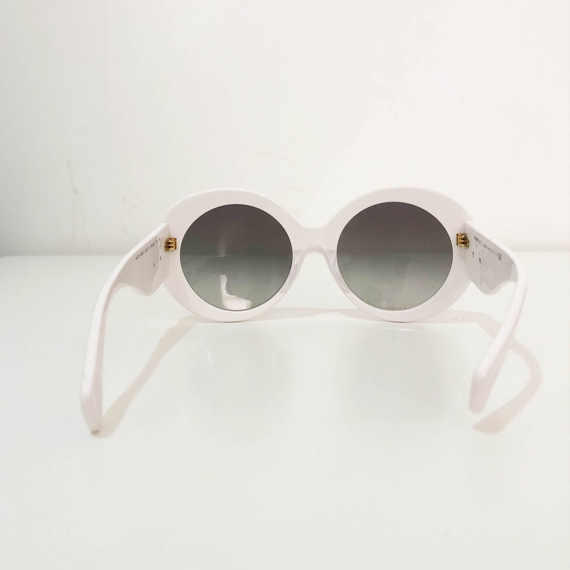 Versace White Oval Shape Sunglasses