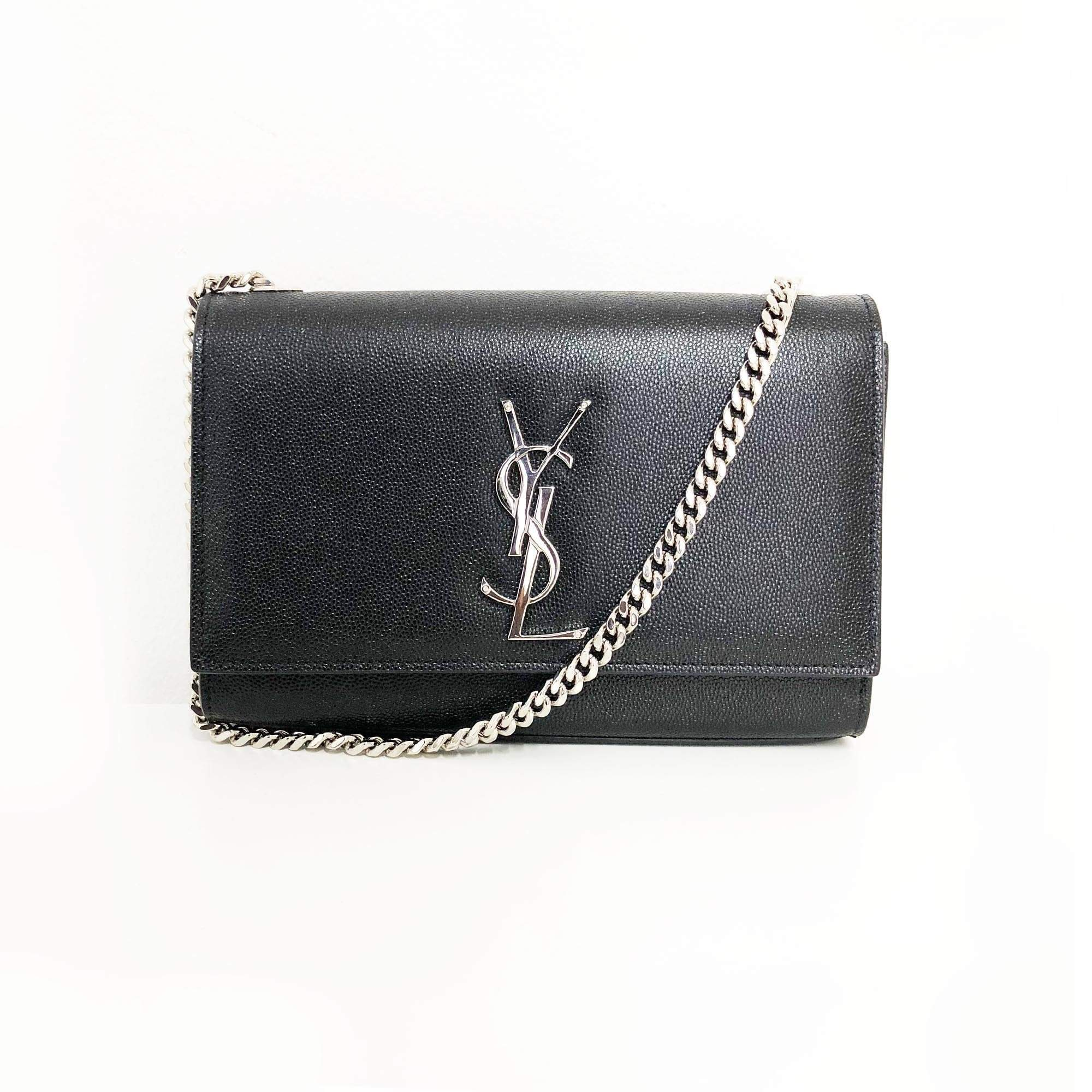 Yves Saint Laurent  Kate Small Monogram shoulder bag Silver Hardware