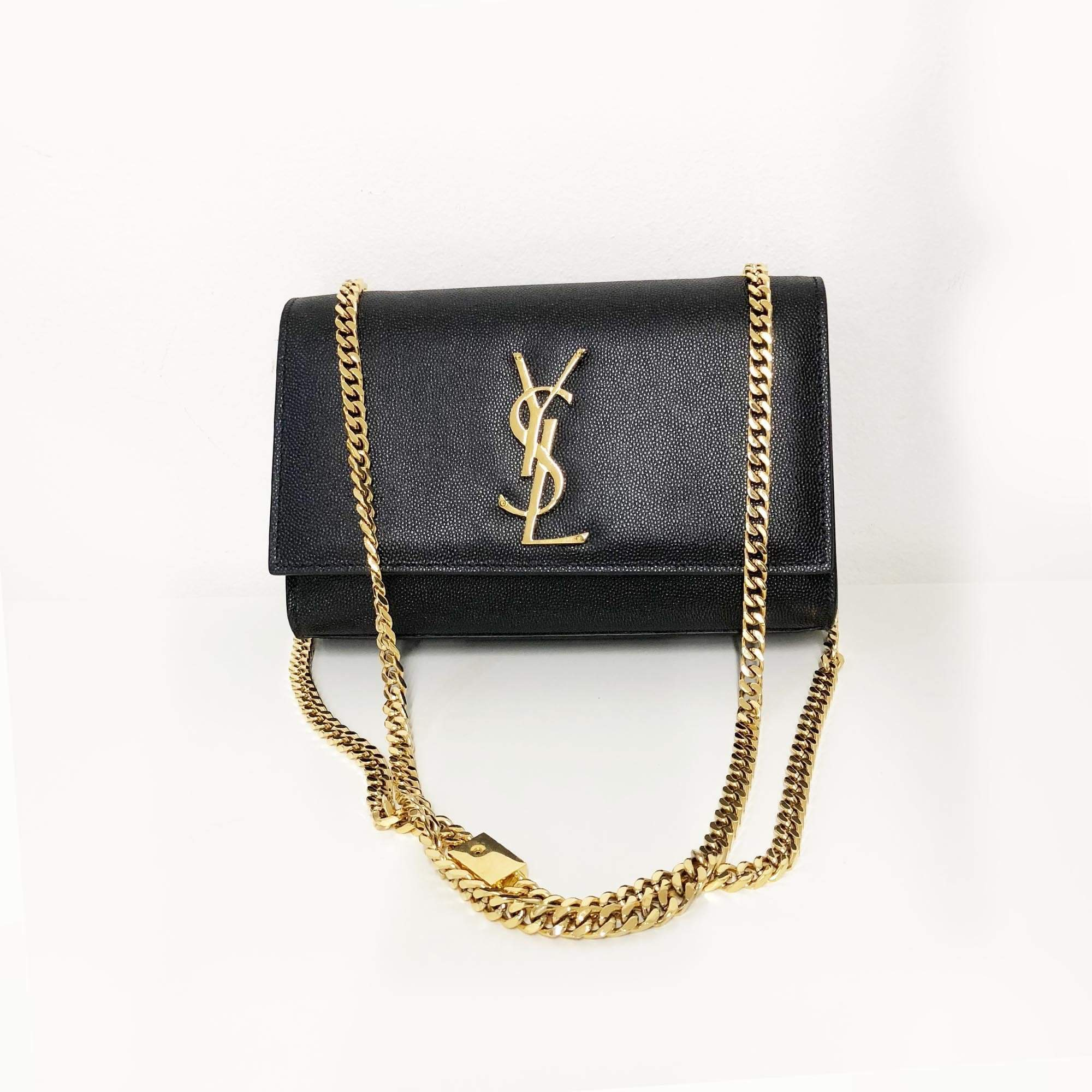 41f27d9a1a Yves Saint Laurent Kate Small Monogram shoulder bag Gold Hardware –  Garderobe