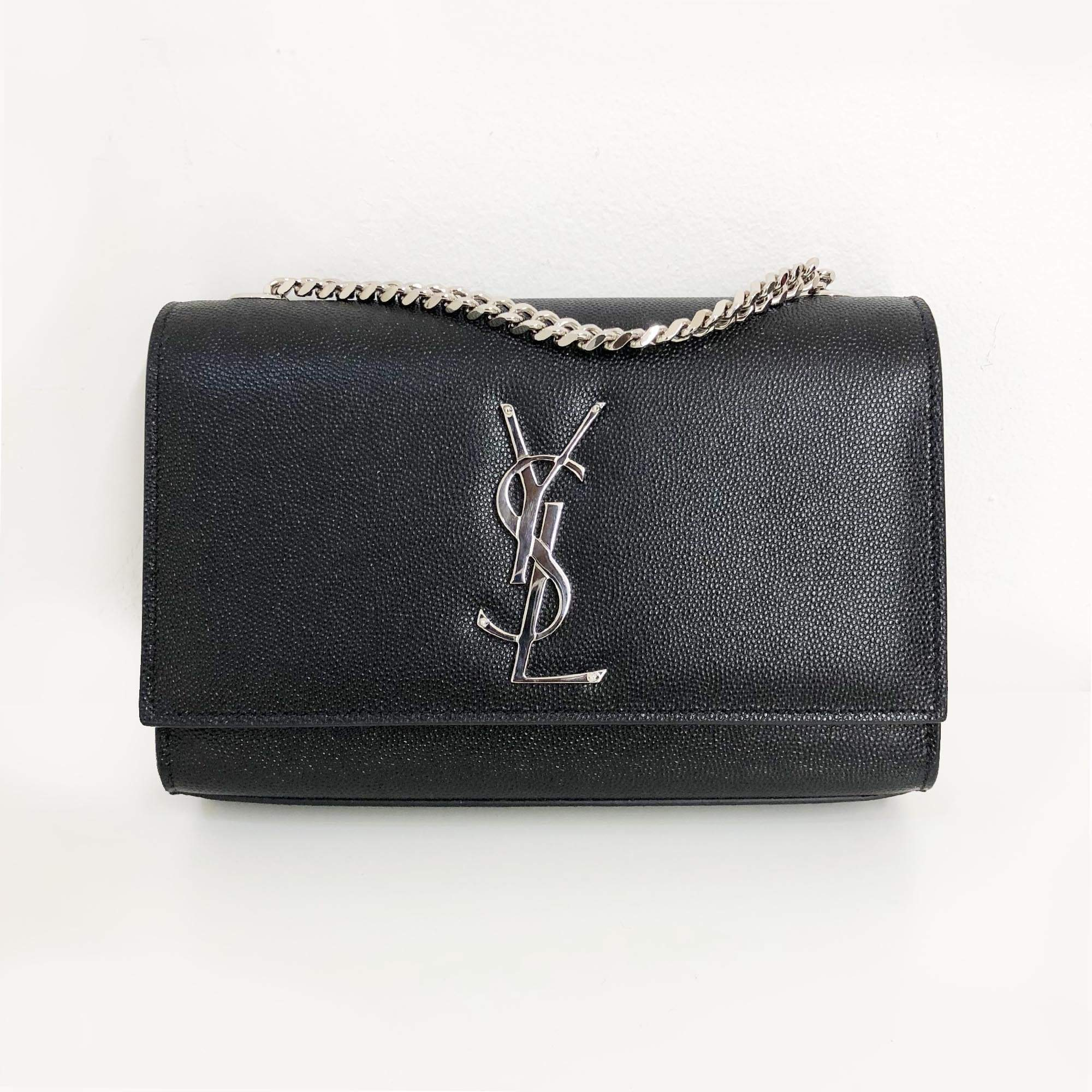 251e29871fe Yves Saint Laurent Kate Small Monogram shoulder bag Silver Hardware –  Garderobe