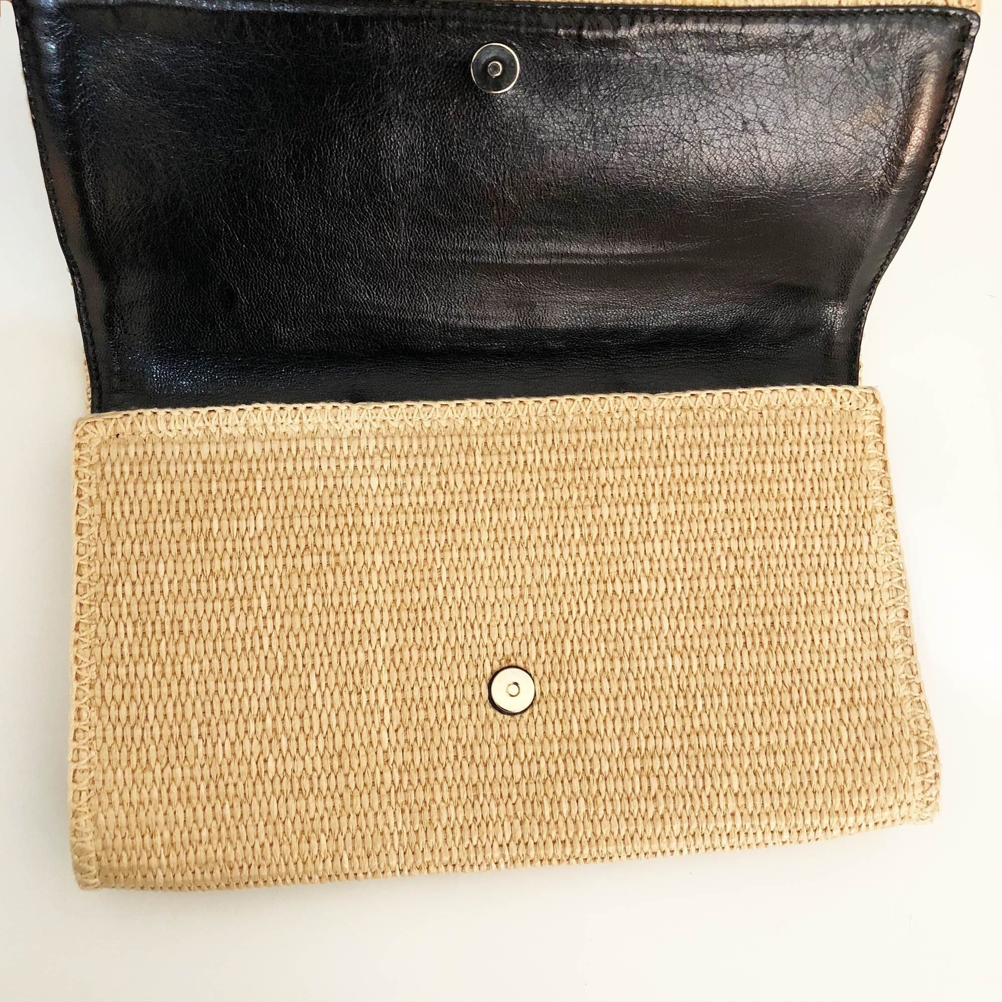 Yves Saint Laurent  Sac de Jou Cane Clutch