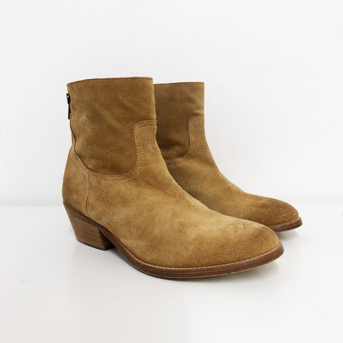 Zadig & Voltaire Suede Camel Ankle Boots