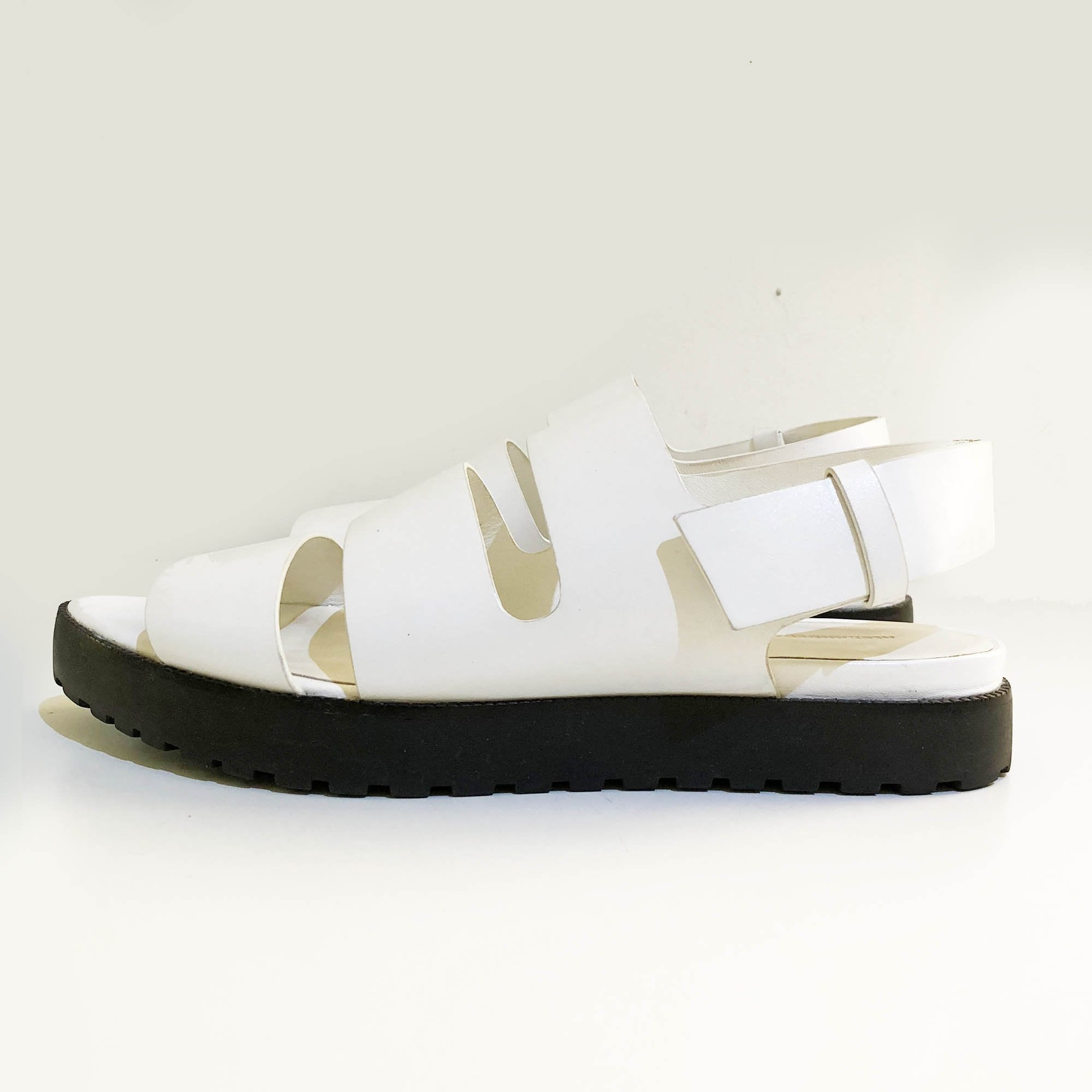 Alexander Wang 'Alisha' Leather White Sandals