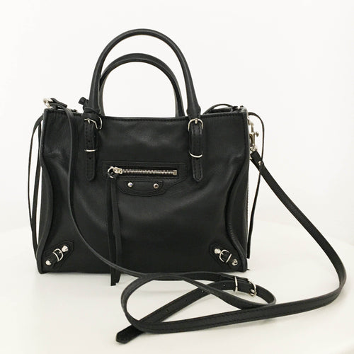 Balenciaga Black Papier A4 Mini Cross-body