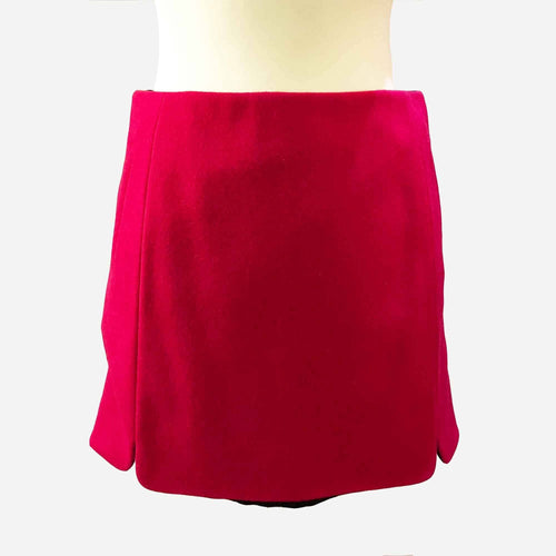 Balenciaga Red Wool Skirt