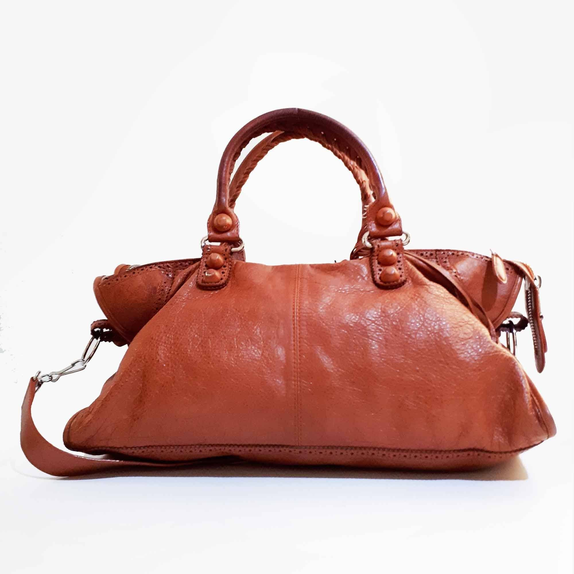 Balenciaga Large Classic City Brown Bag