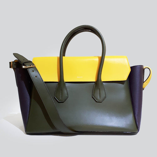 Bally Tri Color Top Handle Bag