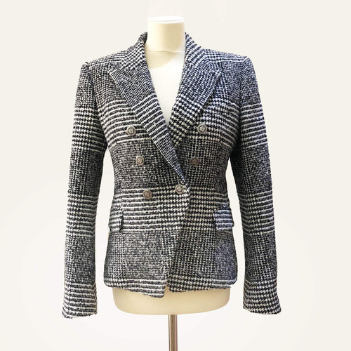 Balmain Double-breasted peak-lapel Wool blazer