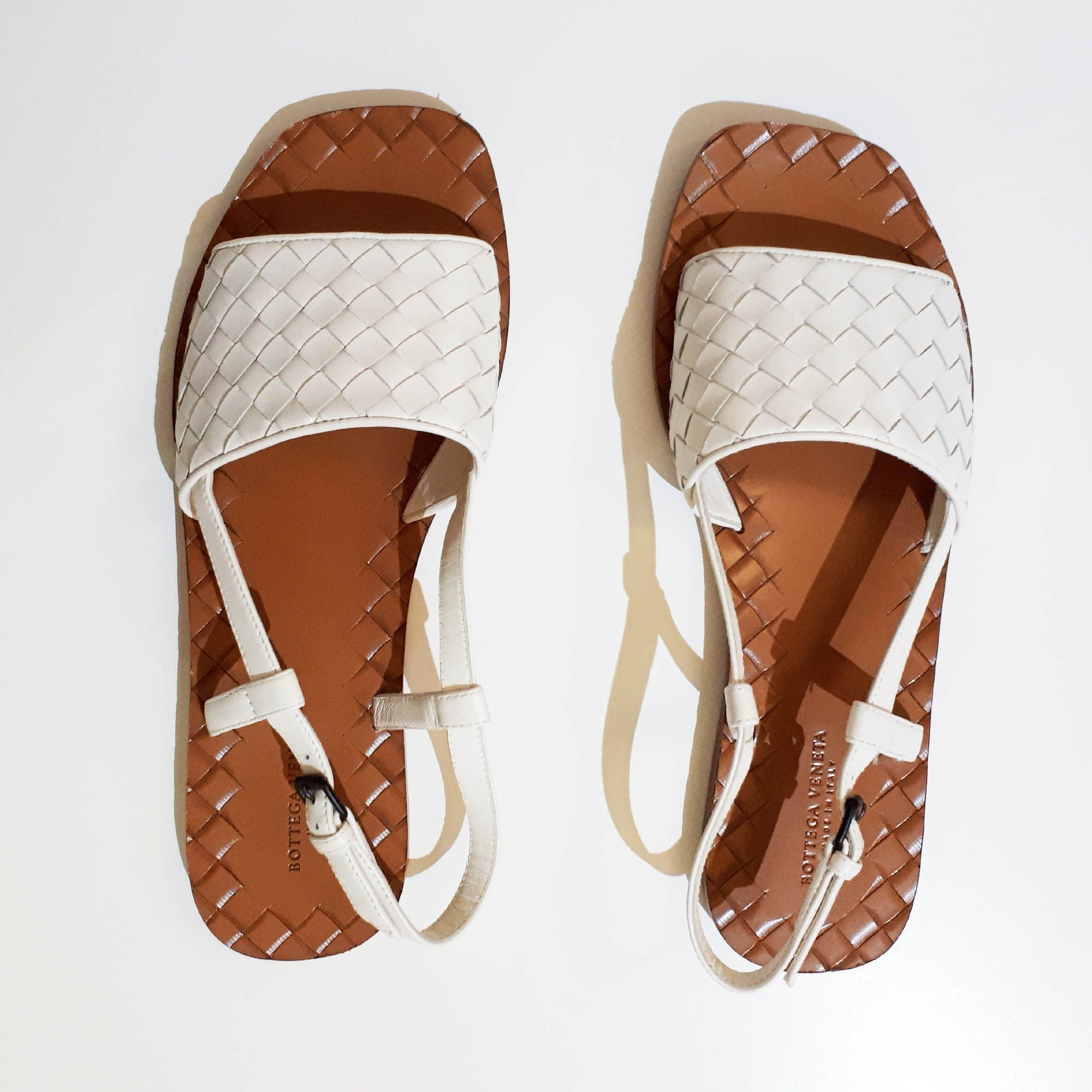 Bottega Veneta Intrecciato Leather Sandals