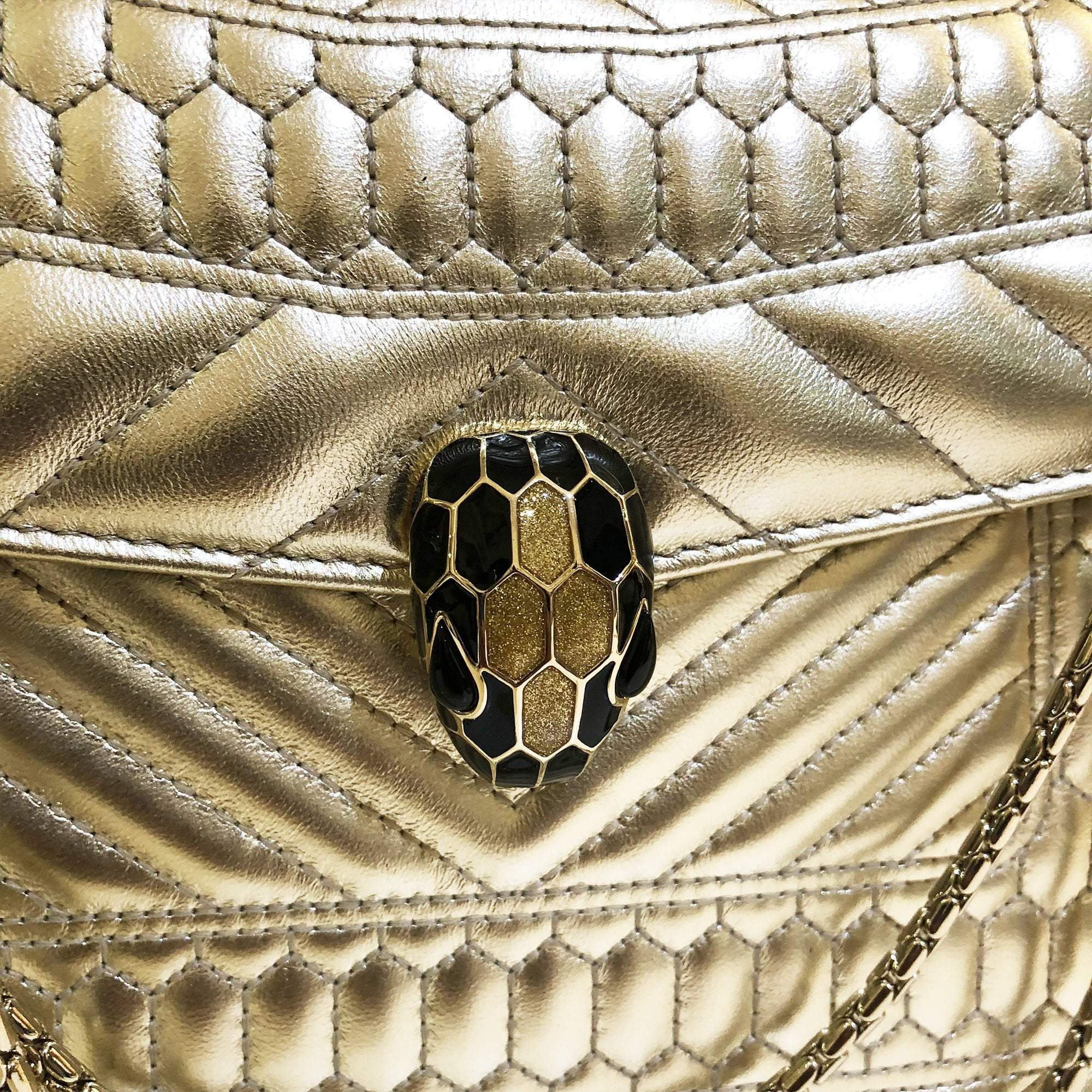 Bulgari's Serpenti Forever Quilted Medium Shoulder Bag