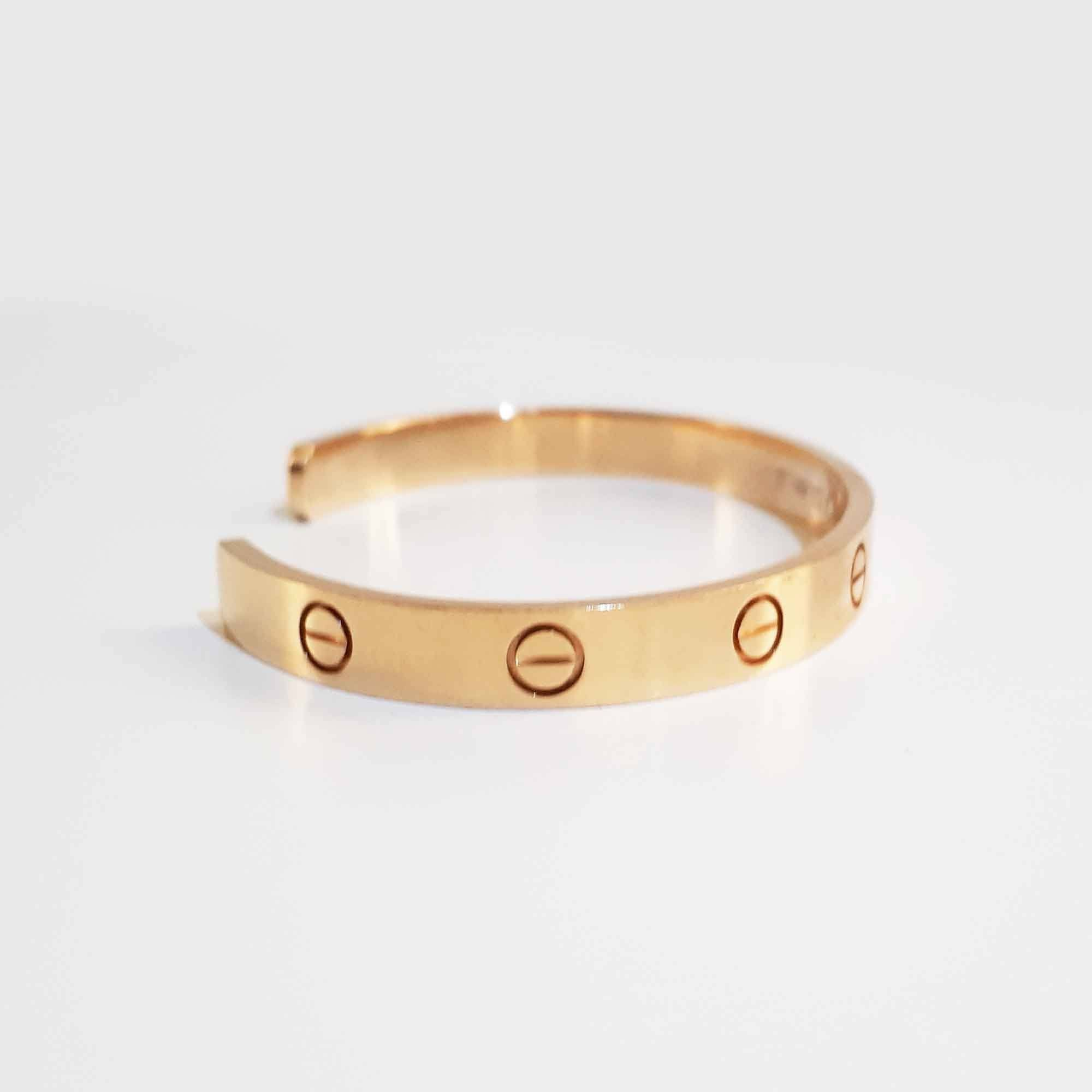Cartier Love Open Cuff Gold Bracelet 17cm