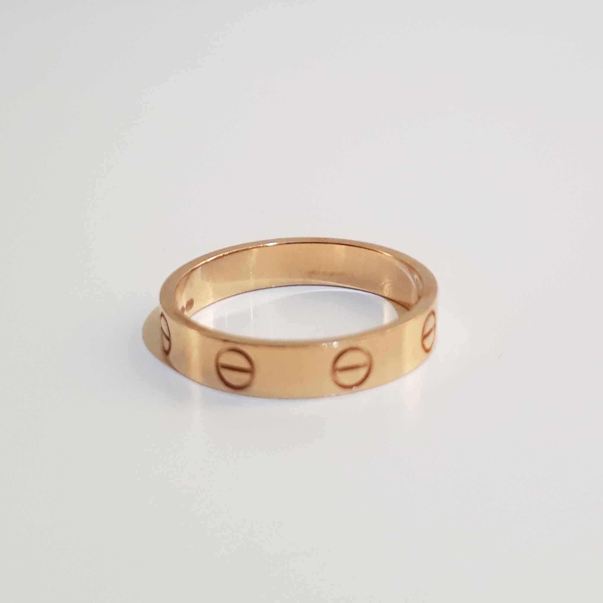 Cartier Love 18kt Gold Band Ring Size 54