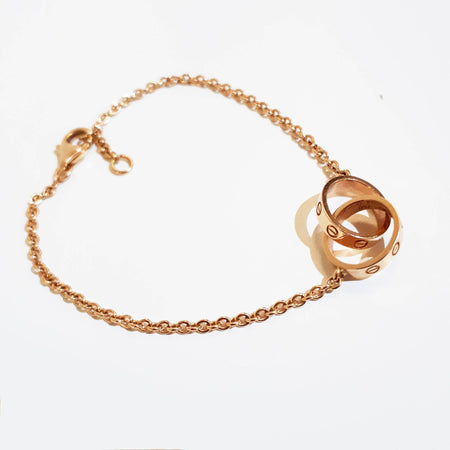 Cartier 18K Gold Chain Link Baby Love Bracelet
