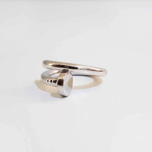 Cartier Juste Un Clou White Gold Ring Size 51