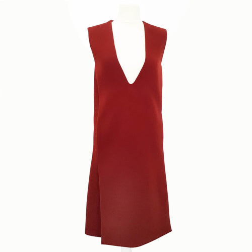 Celine Burnt Orange Sleeveless Dress