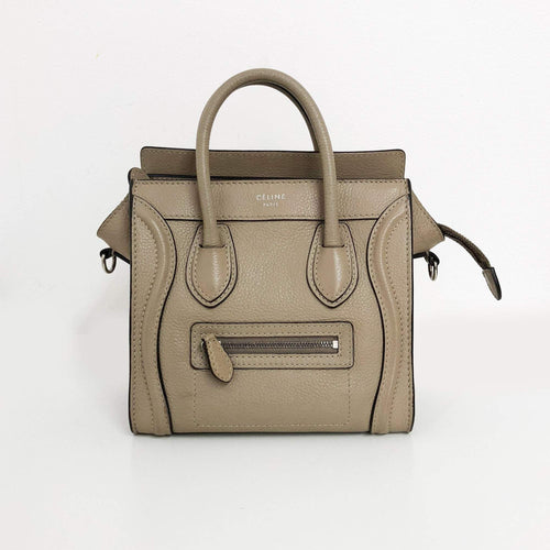Celine khaki Nano Luggage Bag