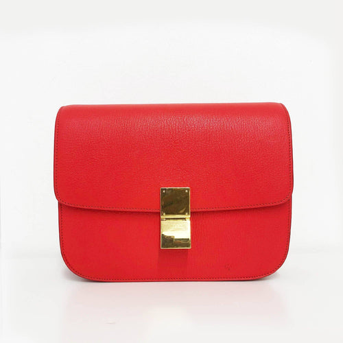 Celine Orange Leather Box Bag