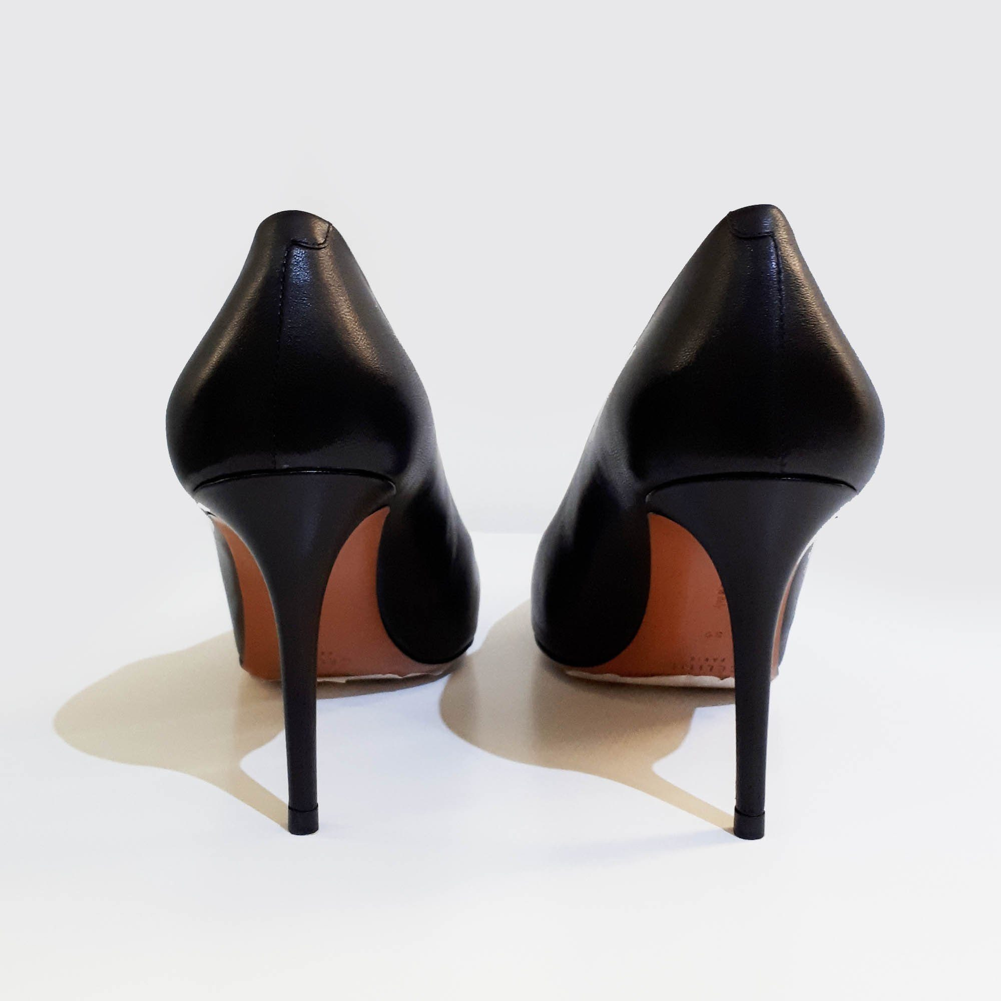 Celine Pointy Black Leather Pumps