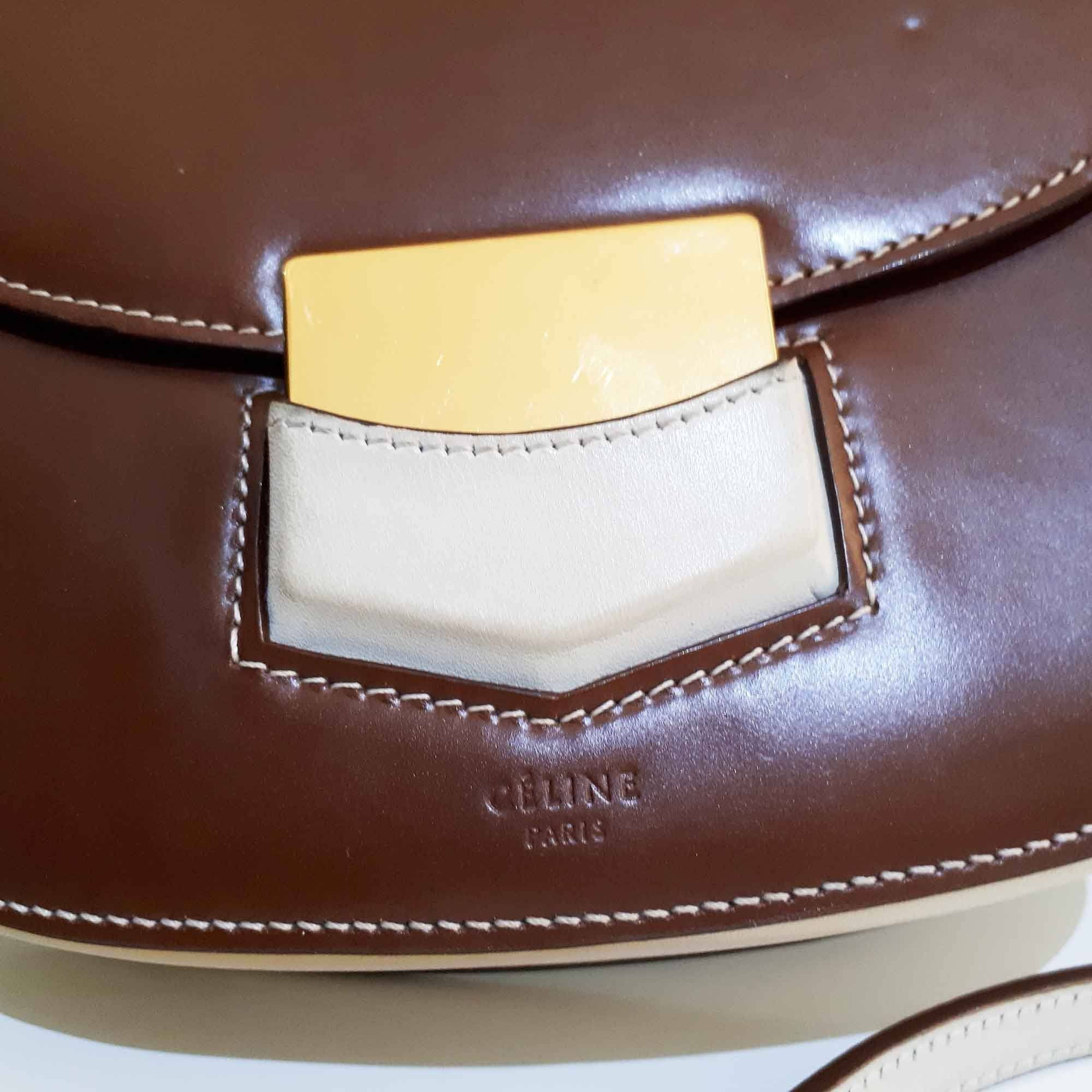 Celine Small Two Tone Trotteur-Shoulder Bag