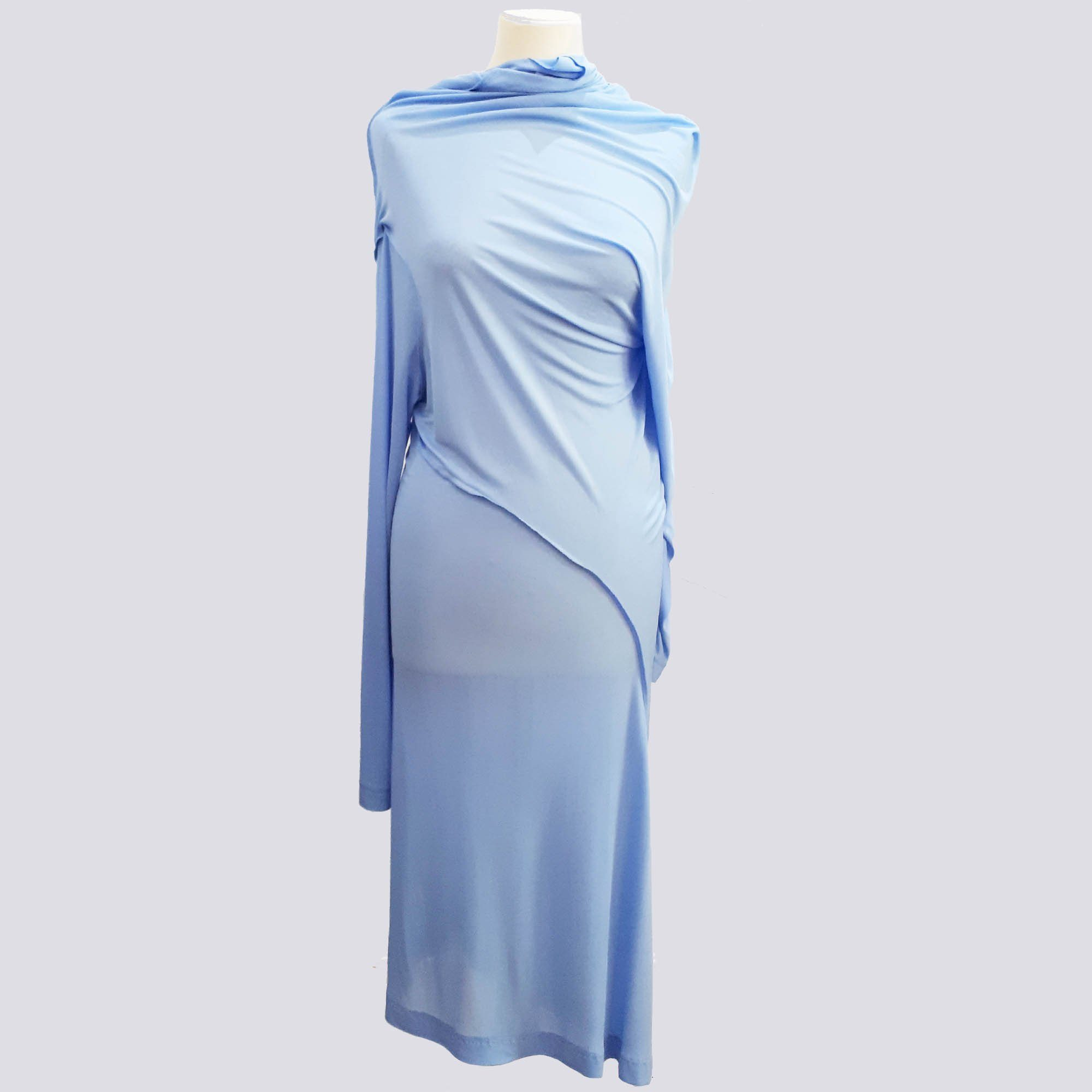 Celine Long Sleeve Light Blue Dress