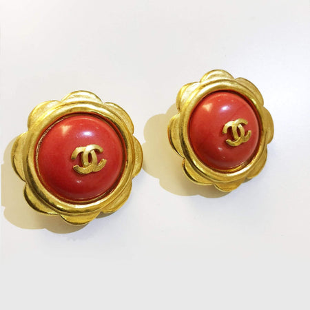 Chanel Vintage Round Earrings