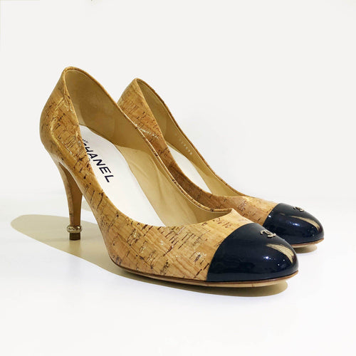 Chanel Cap Toe Cork Pumps