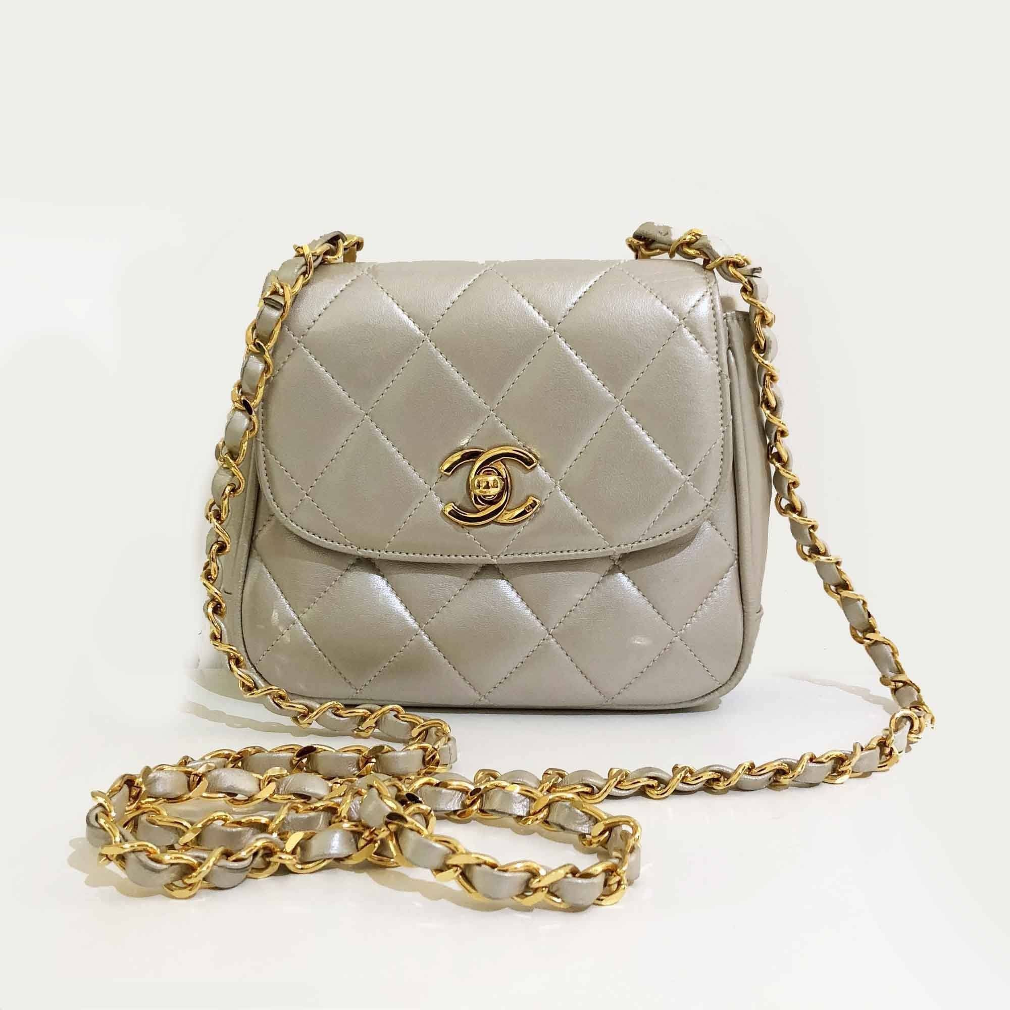 fd984102d9da Chanel Vintage Quilted Pearl Mini Crossbody Bag – Garderobe