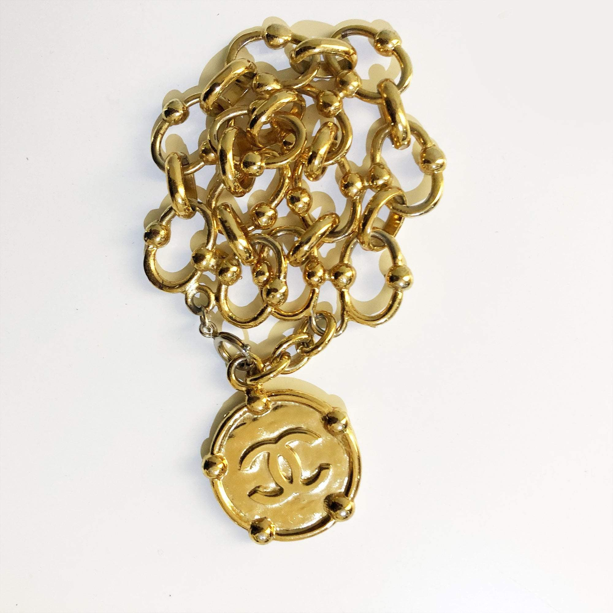 Chanel Vintage Bracelet with CC Coin
