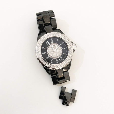 Chanel J12 Black Quartz 38MM H1708