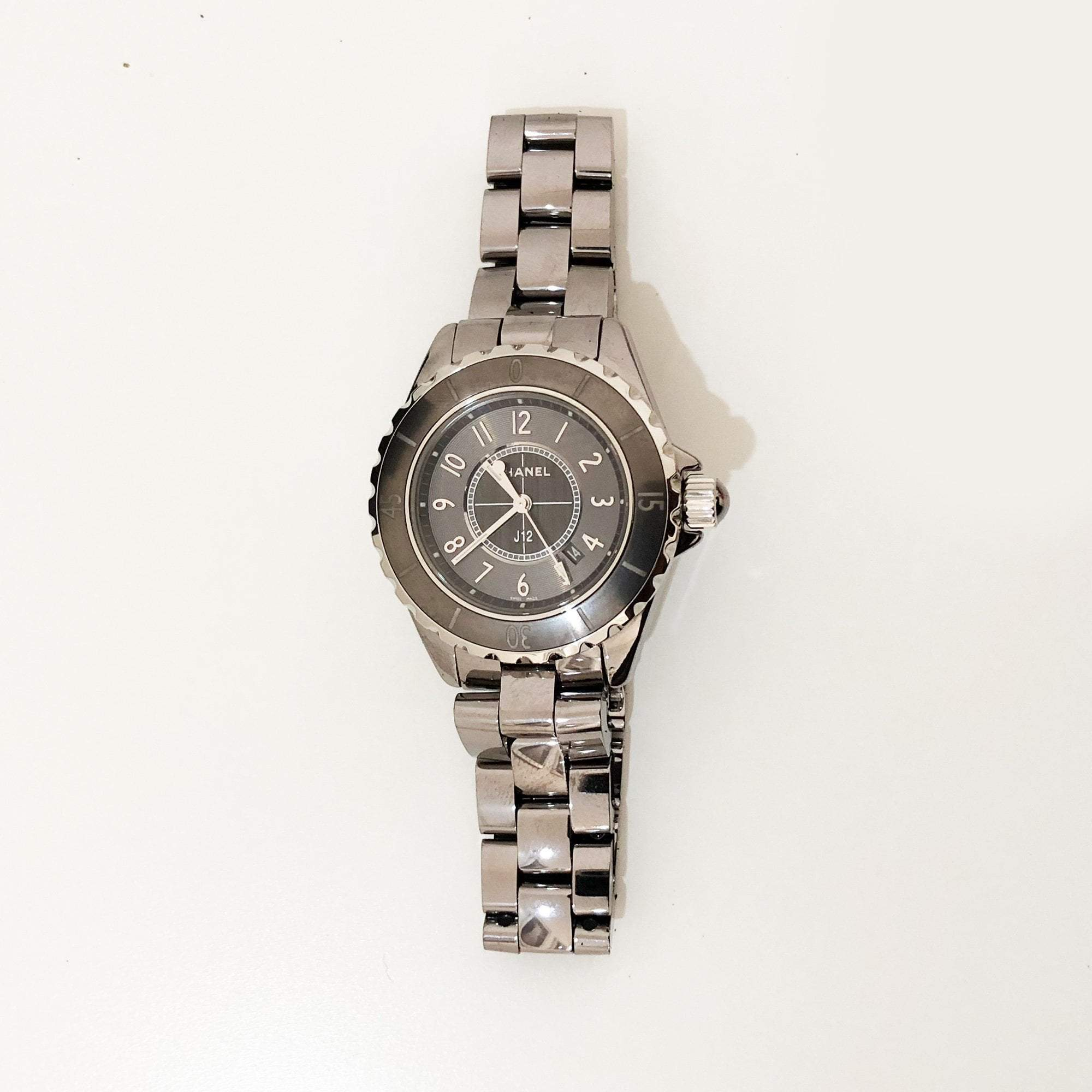 Chanel J12  Gun Metal Ceramic and Steel Watch 38 mm