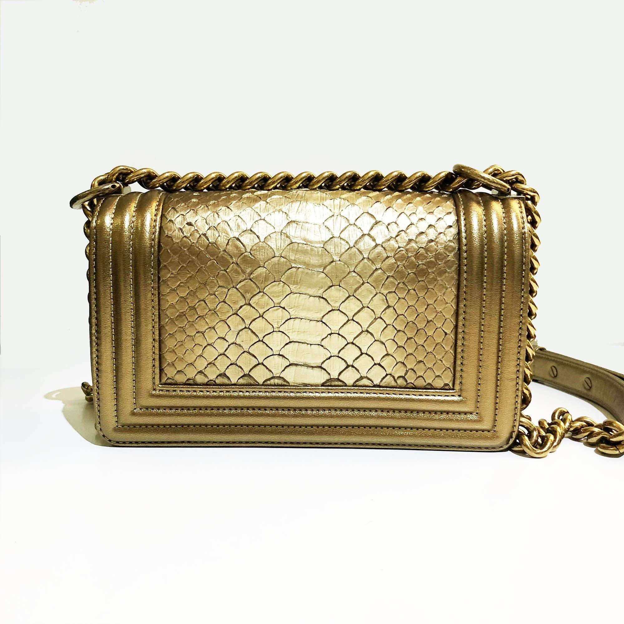 Chanel Le Boy Small Gold Bag