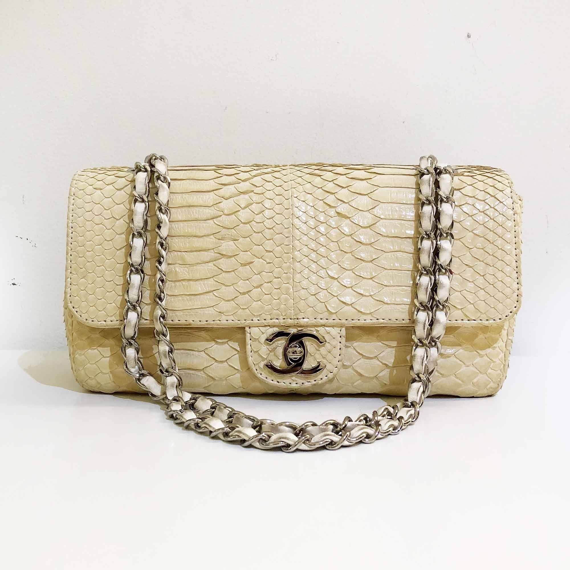 Chanel Timeless Python Single Flap Bag