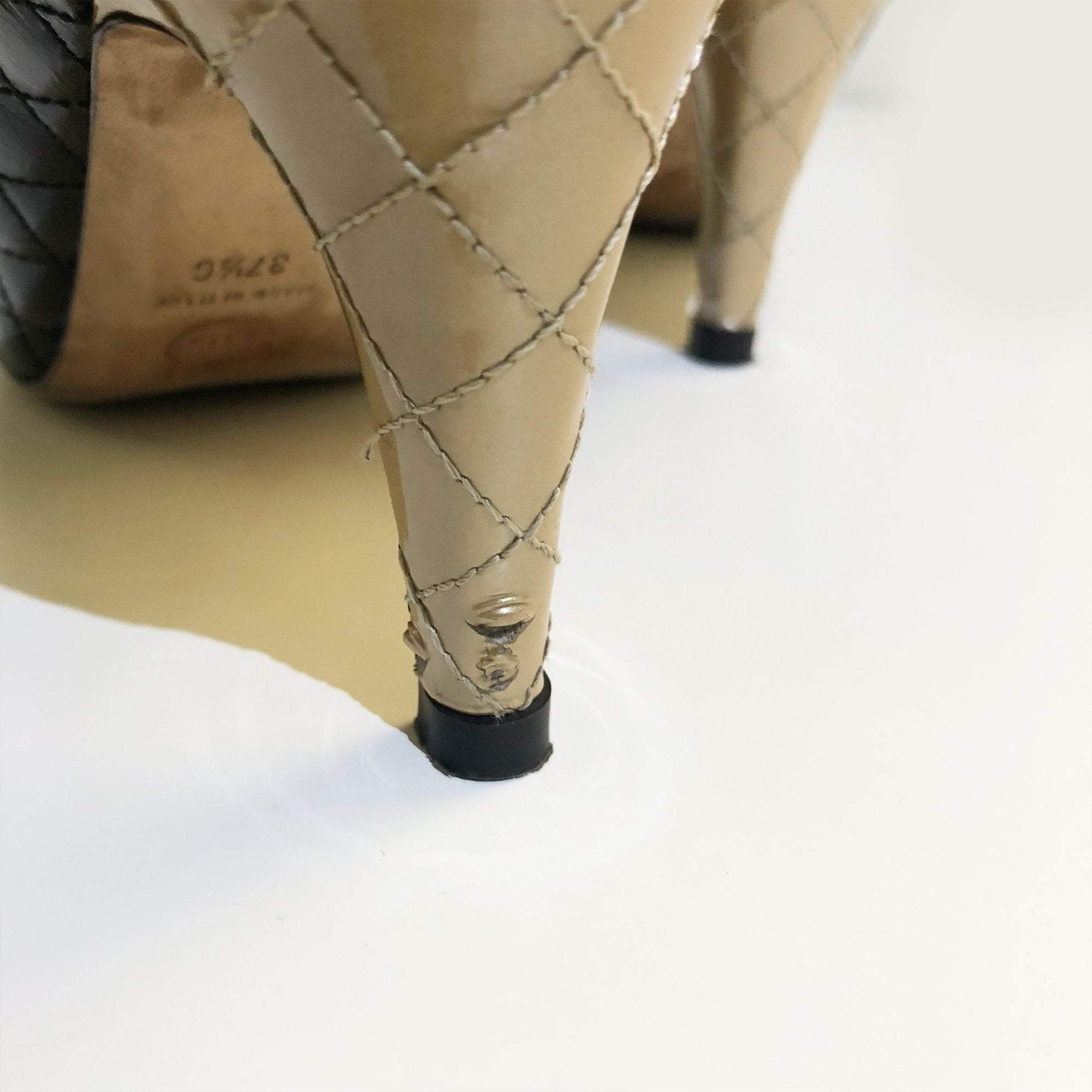 Chanel Quilted Cap Toe Shoes