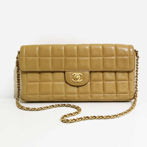 Chanel Vintage Chocolate Bar Quilted Flapbag
