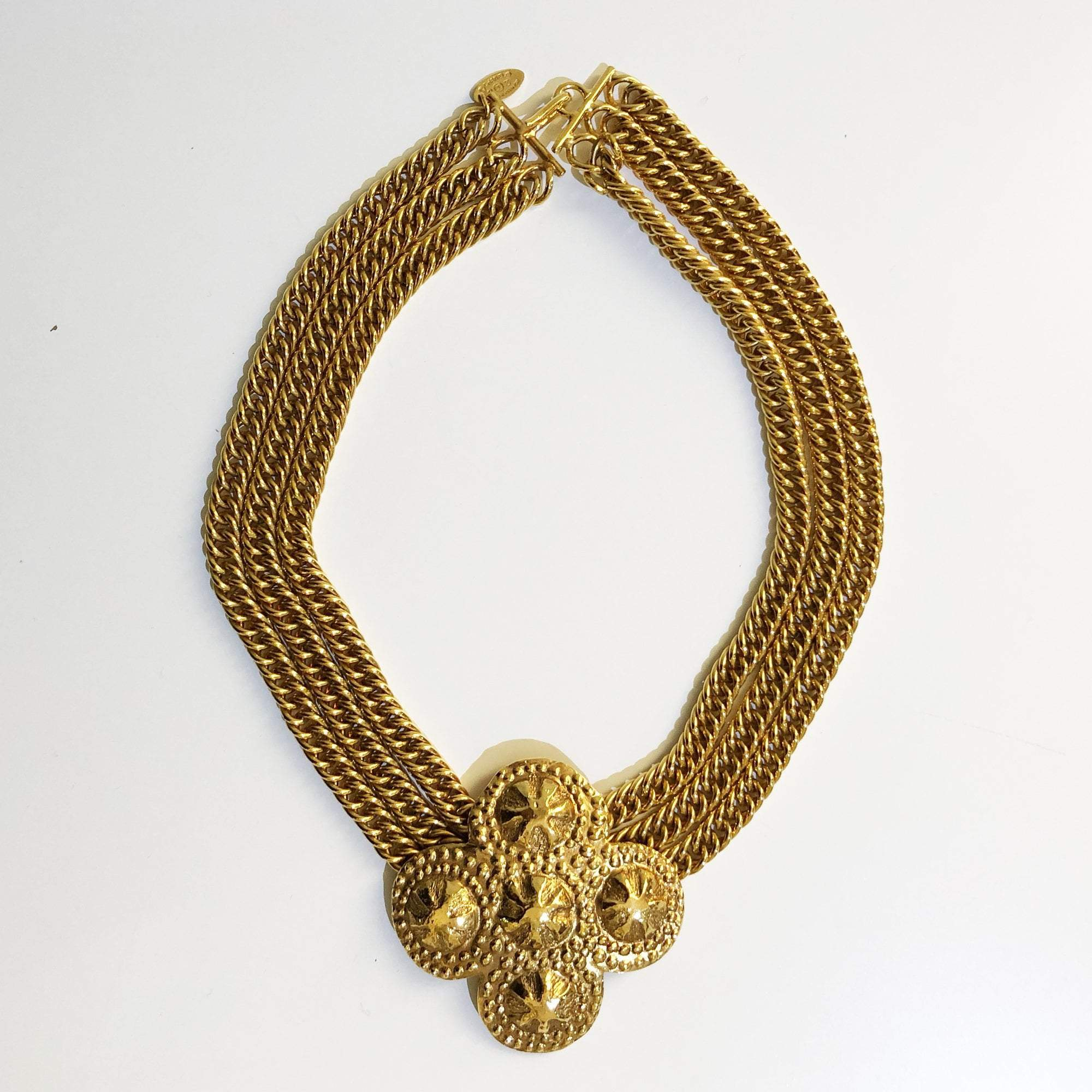 chain multi claire gold strand chunky tone s necklace