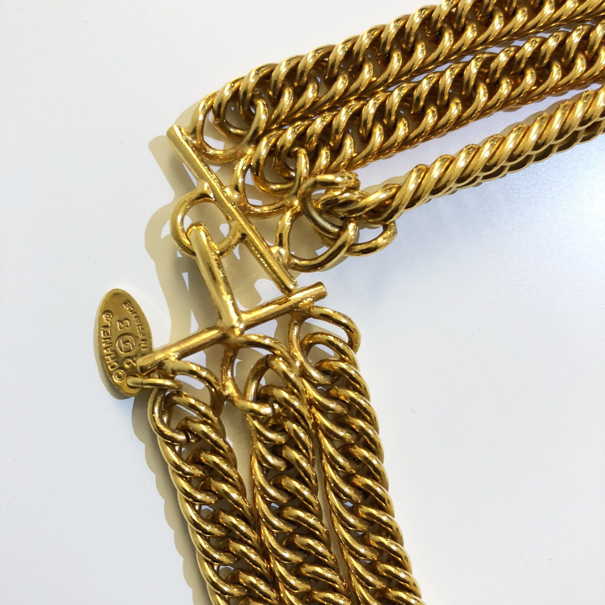 Chanel Chunky Chain Pendant Necklace