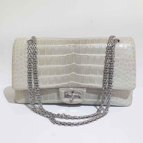 Chanel Ivory Alligator Reissue 2.55 Classic Flap Bag