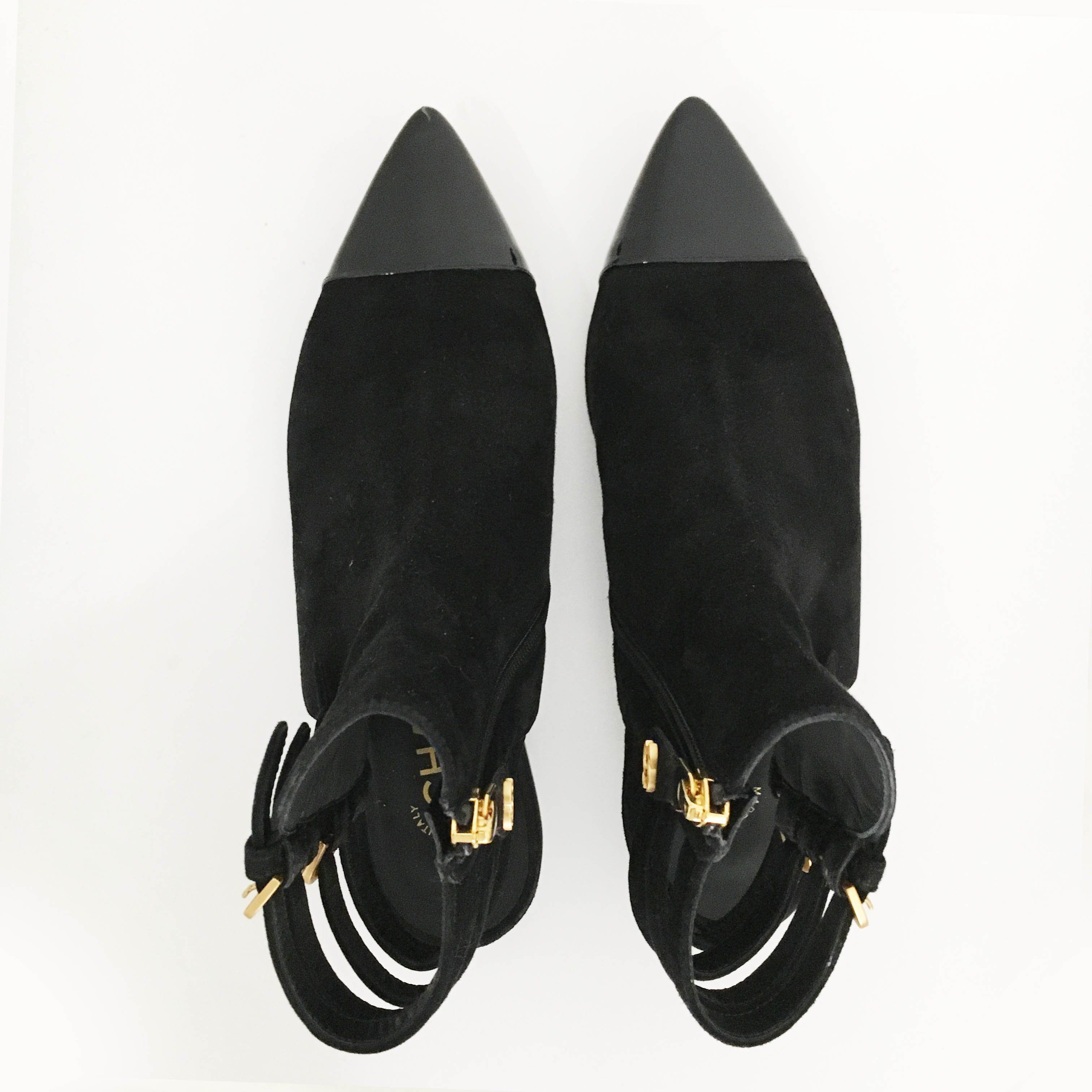 Chanel Suede Pointed Toe Flat Shoes