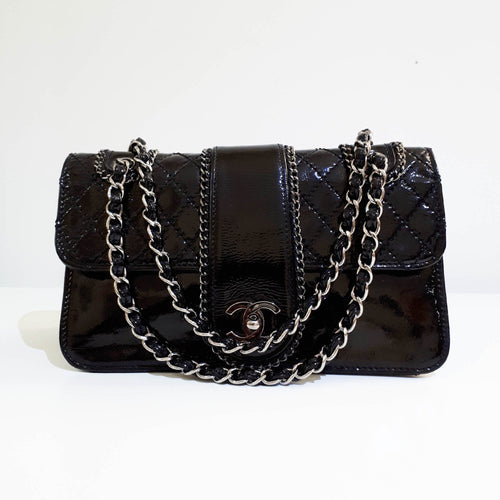 Chanel Patent Leather Medium Shoulder Bag