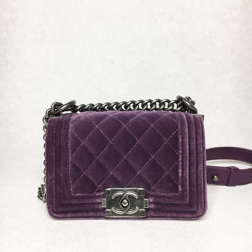 Chanel Mini Le Boy Velvet Bag