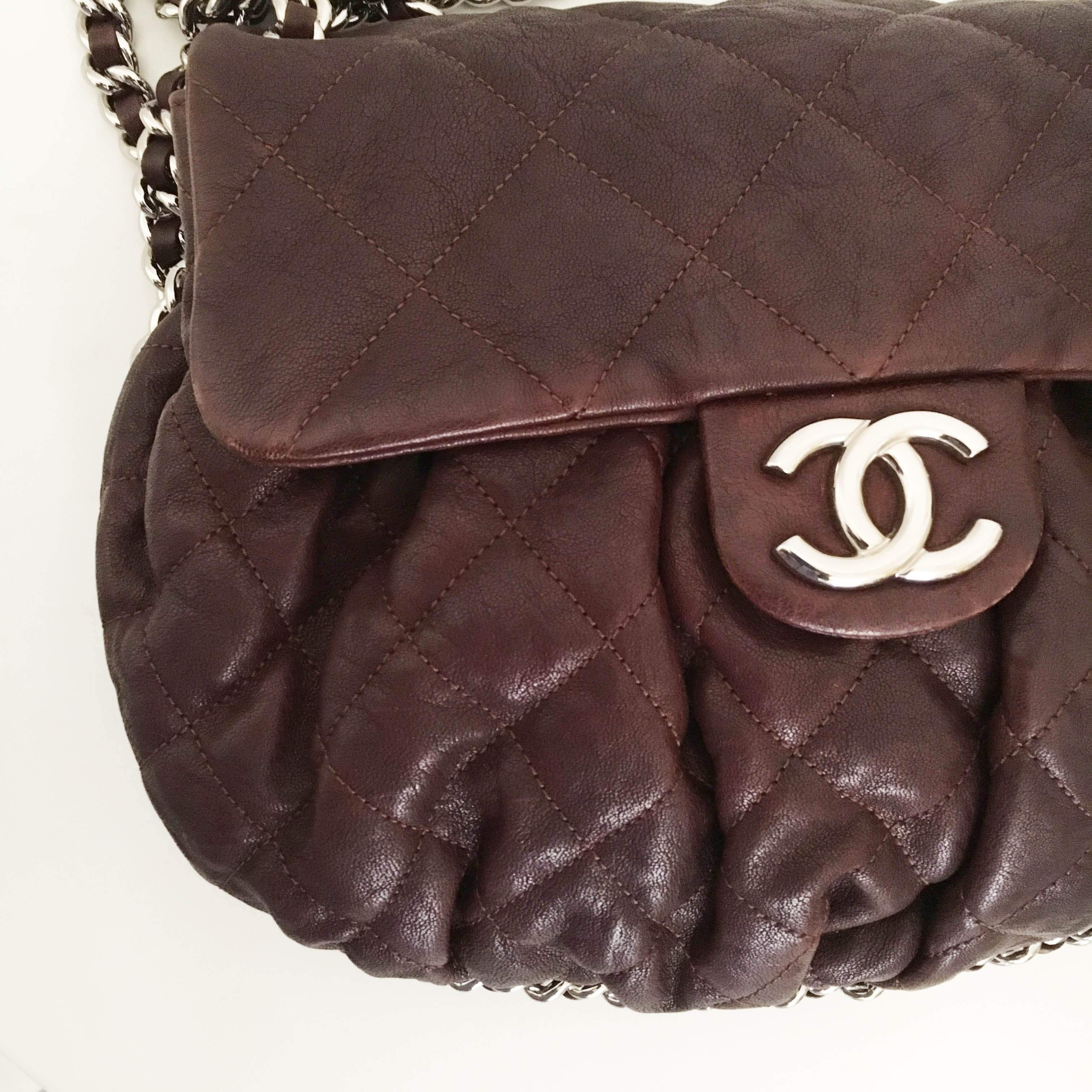 Chanel Aged-leather Crossbody Bag