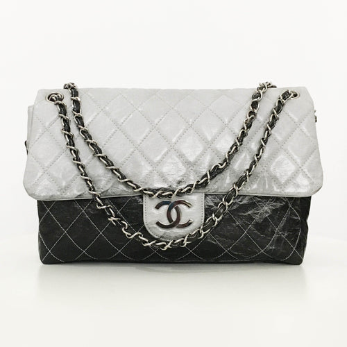 Chanel Vinyl Melrose Flap Bag