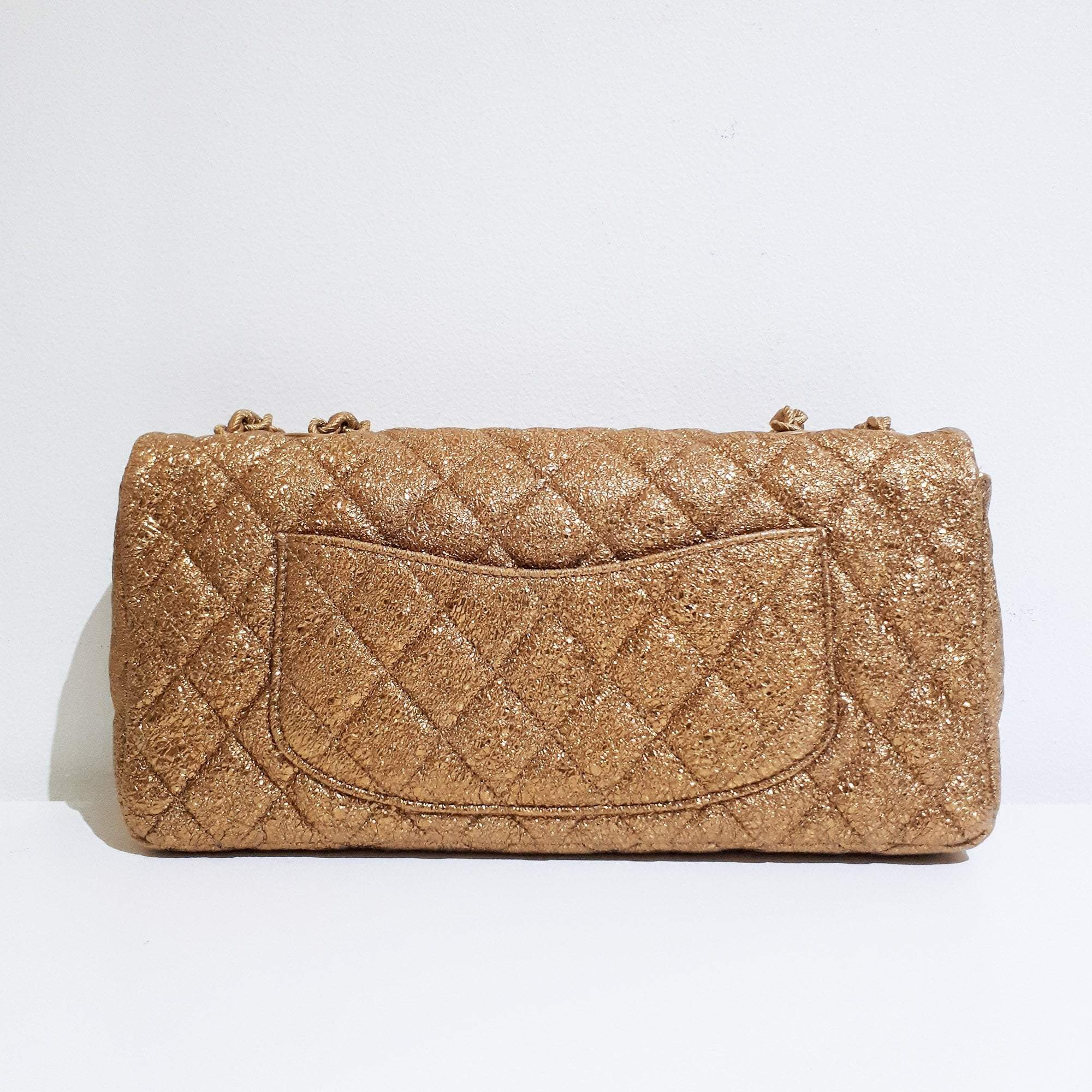 Chanel Metallic Gold Flap Bag