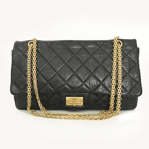 Chanel Black Quilted Leather Reissue 2.55 Classic Flap Bag
